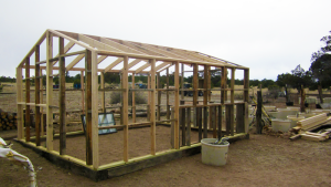 Greenhouse under construction