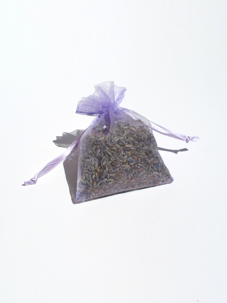 small purple sachet